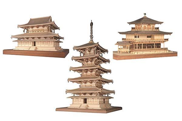 maquetas japonesas madera