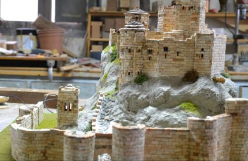 maqueta castillo medieval loarre