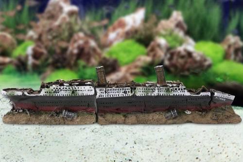 maqueta del titanic hecha